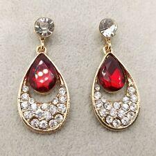 NEW Fashion crystal earrings Red Teardrop Shape Earringss DD97