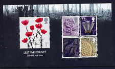 GB 2006 LEST WE FORGET 90th ANNIVERSARY BATTLE of the SOMME MINIATURE SHEET MNH
