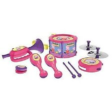 New Peppa Pig Musical Instruments Band Set Drum Trumpet Tamborine Maracas