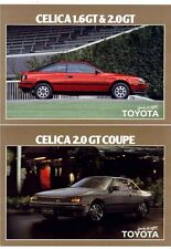 Two 1986 TOYOTA ST162 CELICA New Zealand 2p Brochures 2.0 GT LIFTBACK & COUPE