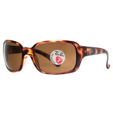 Ray Ban RB4068 642/57 Tortoise Light Brown Polarized Lens Wrap Around Sungl
