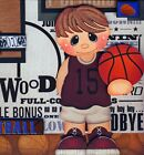 BASKETBALL ~ 2 premade scrapbook pages paper piecing layout boy girl ~ BY CHERRY