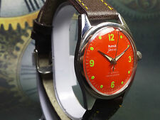 VINTAGE HMT JAWAN 17 JEWELS HAND-WINDING MOVEMENT ANALOG DIAL WRIST WATCH AC208