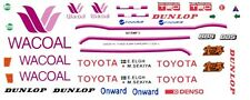 #38 Wacoal TOYOTA 84C & 85c 1985 1/43rd Scale Slot Car WATERSLIDE DECALS