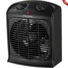Portable Space Heater Electric Hot Room Office Desk Thermostat Small Fan Heating