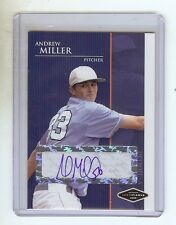 ANDREW MILLER RC 2006 Certified Baseball Rookie Card AUTOGRAPH