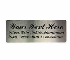 Custom Personalised Counscript Your Text Metal Aluminium Sign Door Plaque House
