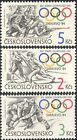 Czechoslovakia 1984 Olympic Games/Shooting/Skiing/Ice Hockey/Sports 3v (n44136)