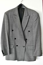 Men's VTG grey Jaeger 100% wool double breasted blazer jacket  UK 38S  EUR 48S