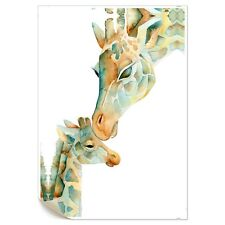 HD Canvas Prints Wall Art Painting Picture Maternal Love Giraffe Unframed