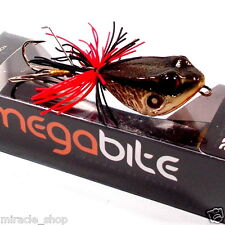 NEW FISHING JUMP FROG LURE BAIT BASS TOP WATER HANDCRAFT RESIN GRAY TACKLE HOOKS