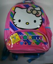 "Authentic Sanrio Hello Kitty Backpack 16"" Large Pink Girls School Book Bag New"
