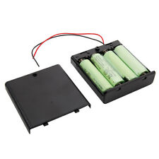 4X 1.2V Ni-MH AA Rechargeable Battery +AA battery Holder Box Case it