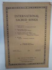 Chansons vocales international sacré w.s.gwynn Williams