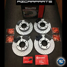 PORSCHE 911 996 997 CARRERA 2 4 3.4/6 FRONT REAR DRILLED BRAKE DISCS BREMBO PADS