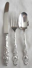 1847 Rogers Bros 12 & 9 Silverplate 'Columbia' Fork/Knife/ Spoon 1893 Mono