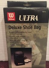Wilson Ultra Deluxe Shoe Bag Golf Protects Shoes Attaches To Golf Bag  W371U