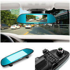 "7"" HD 1080P Dual 2Lens DVR Rear View Mirror Dash Camera for Car DVR Android TF"