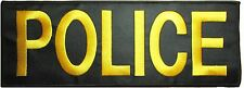 FUGITIVE RECOVERY AGENT EMBROIDERED BACK PANEL YELLOW VELCRO® BRAND PATCH