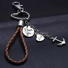New Anchor Rope Pendant Keychain I Love You Dad Keyring Keyfobs Key Ring