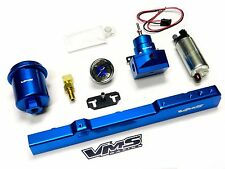 WALBRO FUEL PUMP GAUGE RAIL REGULATOR FILTER FOR 99-00 HONDA CIVIC SI B16 BLUE