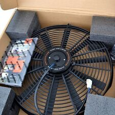 "Mishimoto MMFAN-16 Single Black 16"" Slim Electric Radiator Cooling Fan"