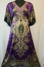 Women Fancy Kaftan Caftan Dress Dashiki Vintage African Boho Gown One size Plus