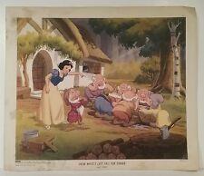 New York Graphic Society 1947 Walt Disney Snow White's Last Call for Dinner