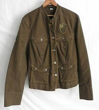 FUBU Jacket Brown Tone Size L/XL Cotton Blend Long Sleeve