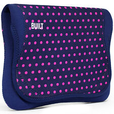 "BUILT NY NETBOOK 11"" ENVELOPE iPad-Kindle-E-READER - NAVY MAGENTA MINI DOT - $39"
