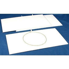 Jewelry Presentation Display Pad Insert  White Velvet  Fits Standard Trays