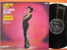 EARTHA KITT - St. LOUIS BLUES  LP with Shorty Rogers  RCA NL 89436  Reissue