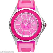 Juicy Couture Women's 1900872 Rich Girl Neon Pink Jelly Strap Watch