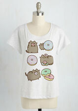Modcloth The Purr-Suit of Happiness XL Pusheen the Cat eating Donuts