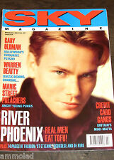 Vintage Very Rare 90's UK SKY Magazine - March 1992 - River Phoenix Gary Oldman