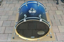 "PDP by DW FS SERIES 22"" BLUE FADE BASS DRUM for YOUR DRUM SET! LOT #T516"