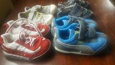 Four pairs of boys baby shoes size 4 toddler, puma pediped children's place