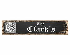 SP0462 The CLARK'S Family name Plate Sign Bar Store Cafe Home Chic Decor