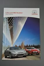 Car Brochure, Toyota Celica & MR2 Select Editions Sept 2004