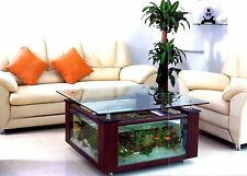 Glass 55g Table Aquarium Square w/ Built-in Filtration and LED Lighting