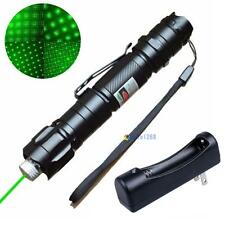5 Miles 532nm Green Laser Pointer Pen Visible Beam Star Cap + 18650 Charger AB