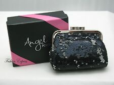 75% OFF Victoria's Secret ANGEL FOREVER BLACK SEQUIN COIN CHANGE PURSE