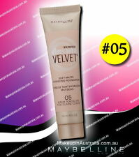 05 Warm Porcelain, Maybelline Dream Velvet Soft-Matte Hydrating Foundation