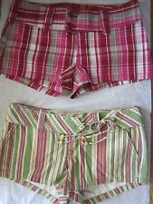 Lot Womens Abercrombie & and Fitch Short Shorts 6 Stripes Plaids Red/Green Plaid