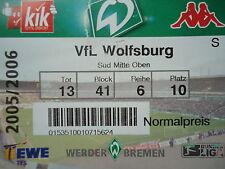 TICKET 2005/06 SV Werder Bremen - VfL Wolfsburg