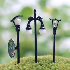 5X Miniature Resin Garden Fairy Ornament Flower Pot Plant Home Decor Streetlight