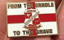 SWINDON TOWN CRADLE TO THE GRAVE  ENAMEL PIN BADGE