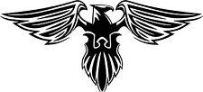 Phoenix Eagle PHENIX fenix eagle head sticker autocollant étiquette en vinyle graphique noir v1