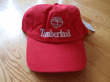 New Timberland 6 Panel Hat Strapback Dad Boots Red Snapback Leather