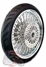21 X 3.5 52 Mammoth Fat Evo Chrome Spoke Wheel Tire Harley Touring Package ABS 8